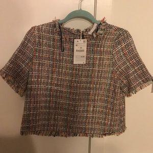 Zara Multicolored Knit Top